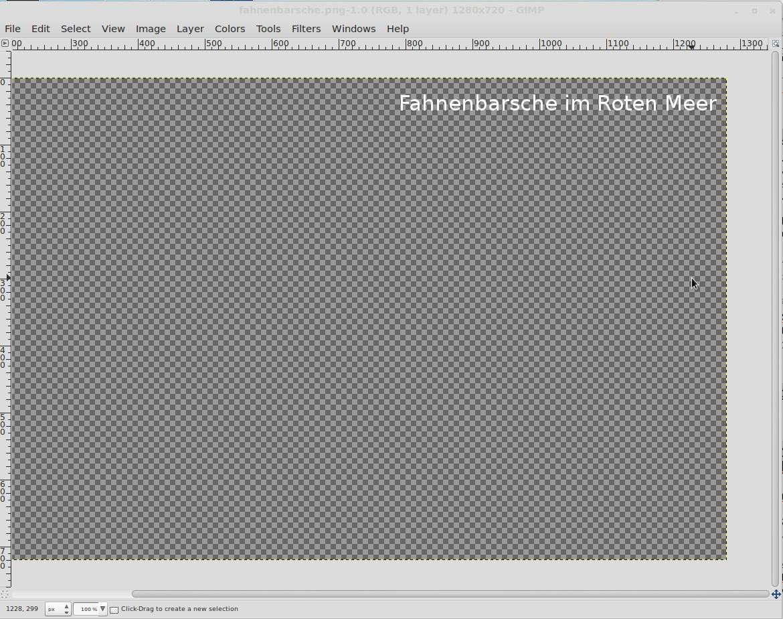 Text auf transparentem Hintergrund
