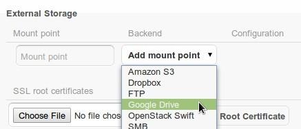 ownCloud 4.5 Beta External Storage einrichten
