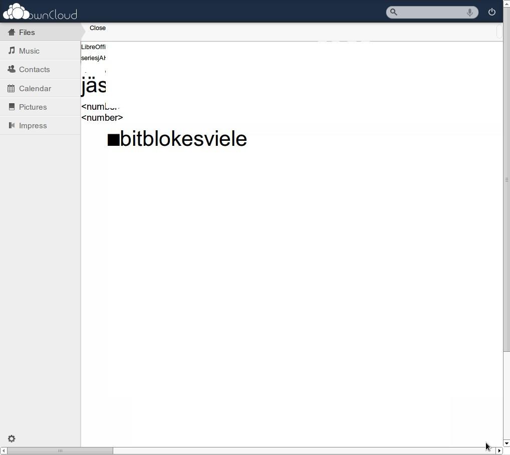 ownCloud 4.5 Beta Impress Testdatei