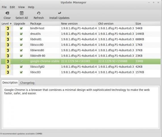 Linux Mint 13: Chrome-Update