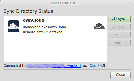 ownCloud Sync 1.0.5