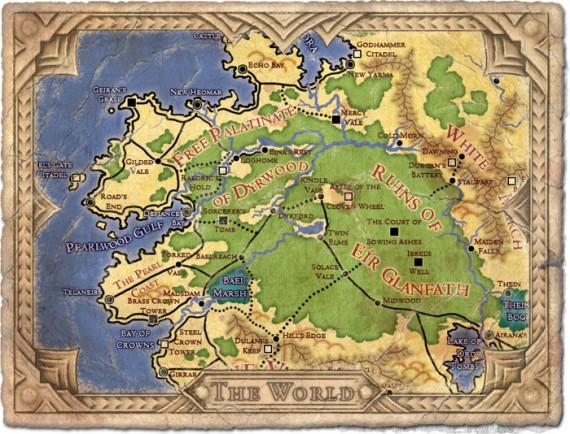 Project Eternity: Weltkarte (Quelle: kickstarter.com)