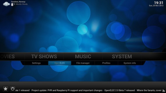 OpenELEC 3.0 Beta (Quelle: openelec.tv)