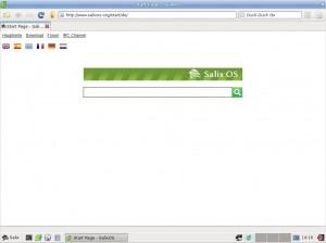 Salix OS 14 Xfce: Midori