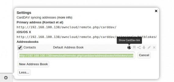 CardDAV-Link ist gut versteckt!