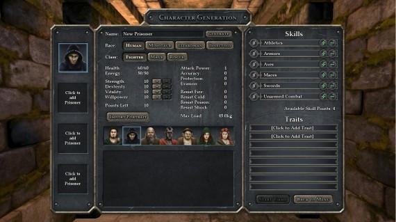 Legend of Grimrock: Spiefigur erschaffen