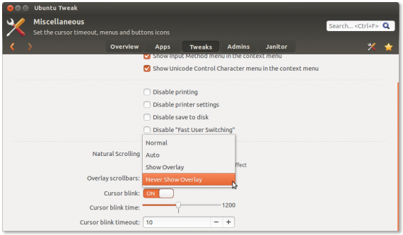 Ubuntu Tweak: Overlay-Konfiguration (Quelle: blog.ubuntu-tweak.com)