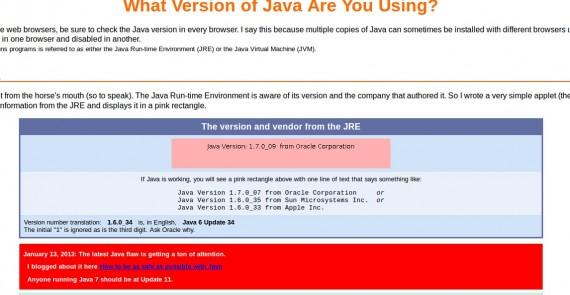 Java 1.7.0_09 von Oracle