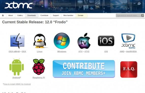 XBMC: Download-Seite