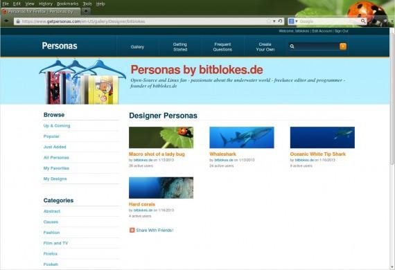 Meine eigenen Firefox-Hintergründe ... :)