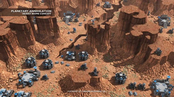 Planetary Annihilation: Wüste (Quelle: Google Plus)