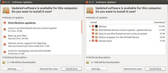 Ubuntu Software Updater: Alt und eventuell neu (Quelle: mterry.name)