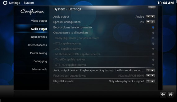 "XBMC 12.0 ""Frodo"": Audio Output"