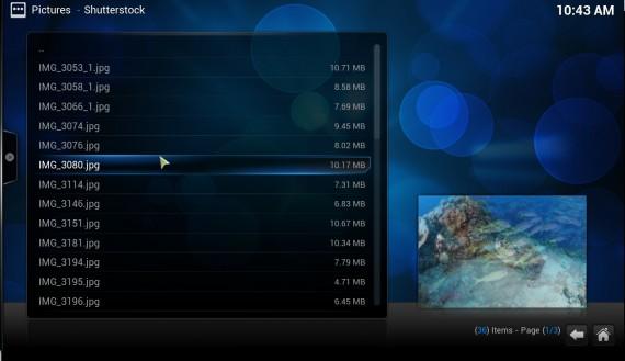 """XBMC 12.0 """"Frodo"""": Bilder anzeigen"""