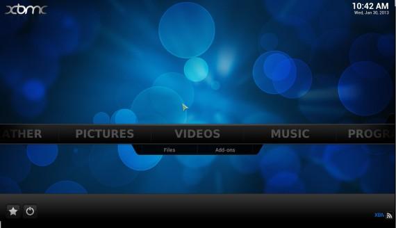 "XBMC 12.0 ""Frodo"": Startbildschirm"