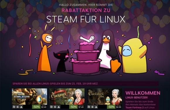 Sonderverkauf: Steam für Linux