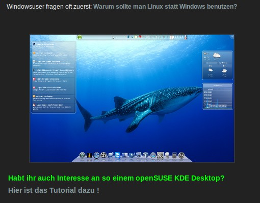 Der Walhai bei opensuse-lernen.de