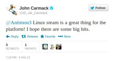 John Carmack: Steam für Linux ist toll!