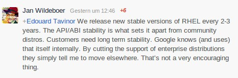 API/ABI-Stabilität unterschiedet Enterprise von Community