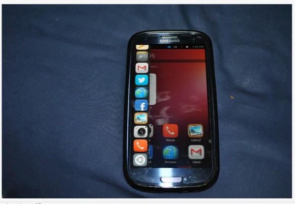 Ubuntu Touch Developer Preview auf einem Samsung Galaxy SIII (Quelle: rootzwiki.com)