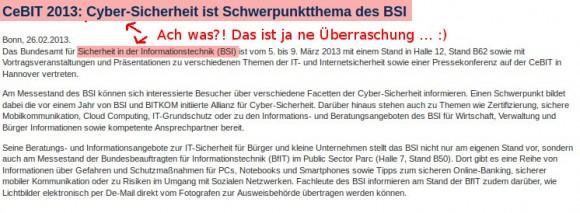 Faustdicke Überraschung: Das Bundesamt für SIcherheit in der Informationstechnik mit Schwerpunkt Sicherheit ...