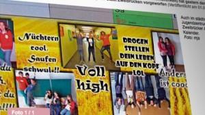Nüchtern cool, saufen schwul: (© Screenshot/Pfälzischer Merkur)