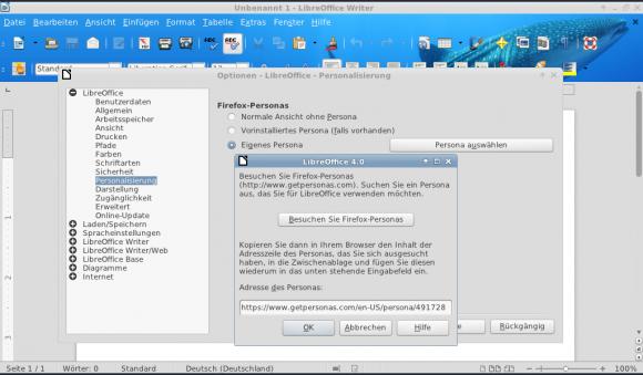 So kann man LibreOffice 4.0 etwas personalisieren
