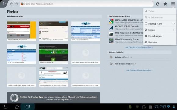 Firefox 19 für Android