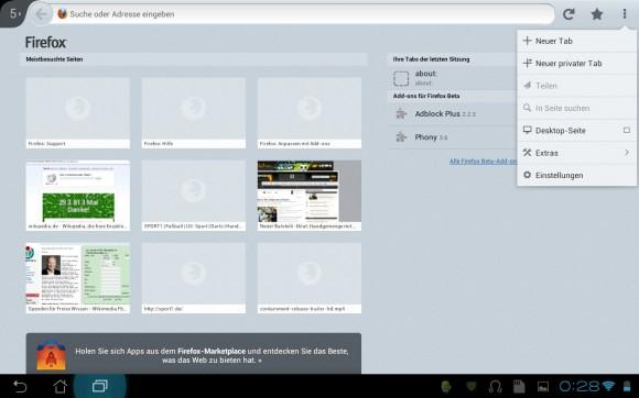 Firefox 20 für Android