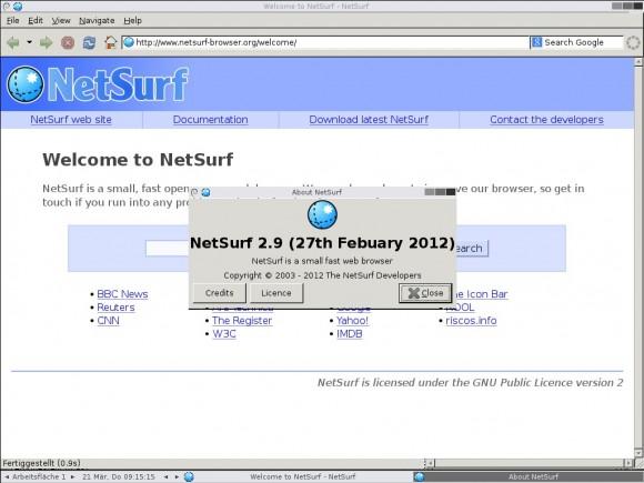 GParted Live 0.15.0-1: Netsurf