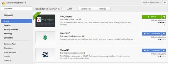 VNC Viewer von RealVNC im Chrome Web Store