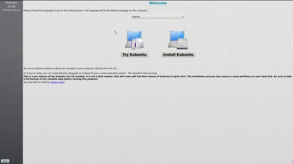 Kubuntu 13.04: ausprobieren oder installieren