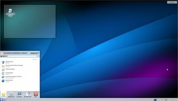 Kubuntu 13.04: Menü