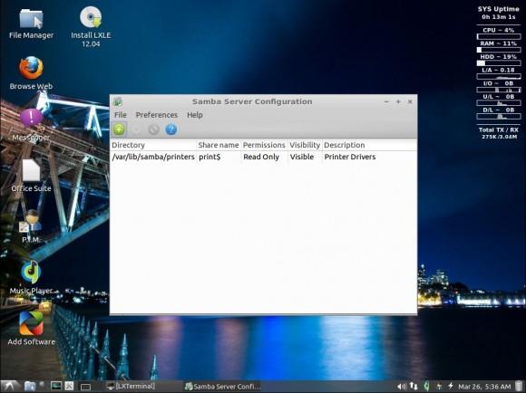 LXLE 12.04: Samba-Konfiguration