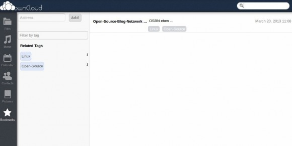 ownCloud: Bookmarks ansehen