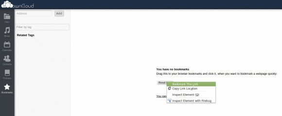 ownCloud: Read Later in die Bookmarks aufnehmen