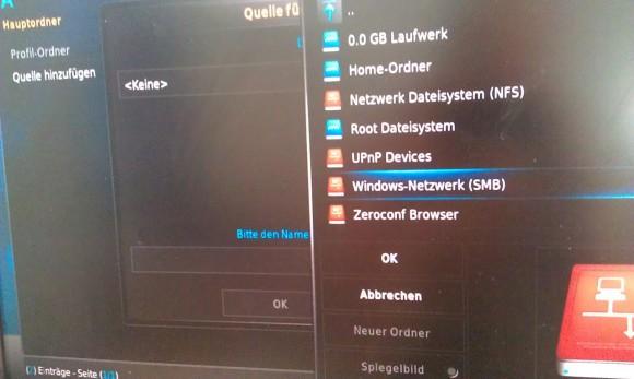 Raspbmc: Windows-Netzwerk