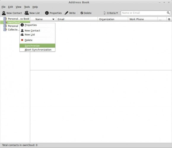 Thunderbird: Remote-Adressbuch synchronisieren