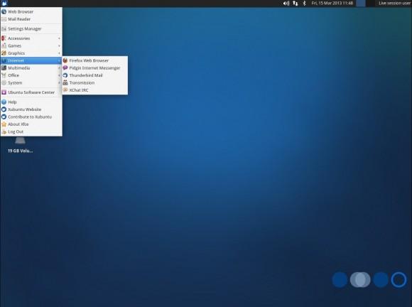Xubuntu 13.04: Menü - Internet