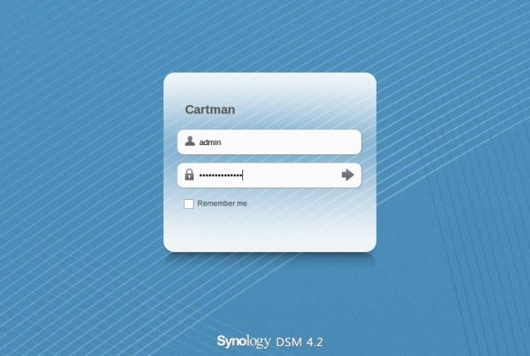Synology: anmelden