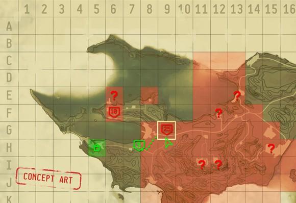 Jagged Alliance Beispielkarte (Quelle: kickstarter.com)