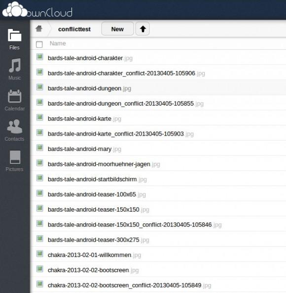 _conflict-Dateien in der Web-Oberfläche sichtbar