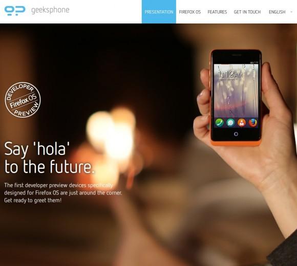 Geeksphone: Die ersten mit einem Firefox-OS-Gerät