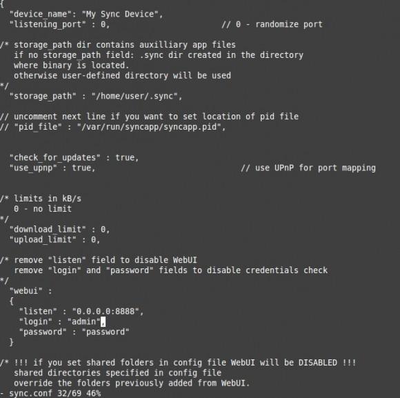 BitTorrent Sync: Passwort für das WebGUI ändern