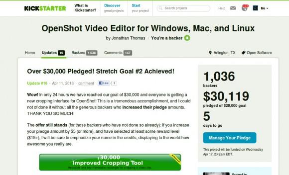 OpenShot: Stretch Goal 2 erreicht!
