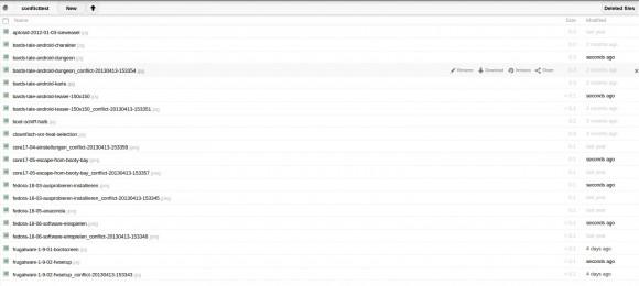 ownCloud 5.0.4 und ync-Client 1.2.4: Weiterhin ein _conflict-Problem