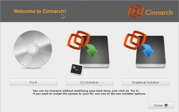 Cinnarch 2013.04.05: Ausprobieren / Installieren