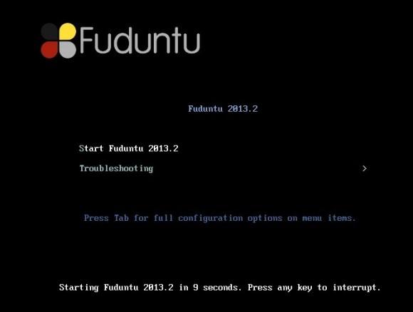 Fuduntu 2013.02: Bootscreen