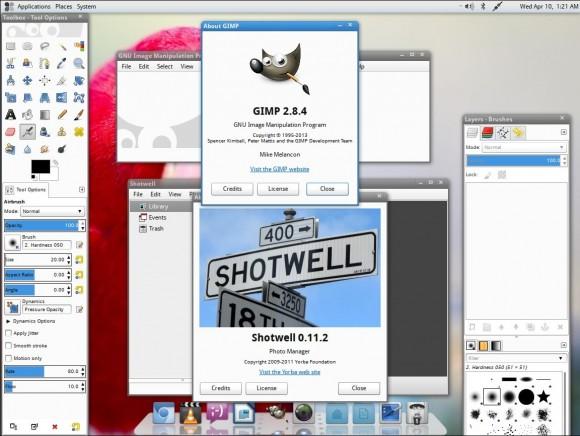 Fuduntu 2013.02: GIMP und Shotwell