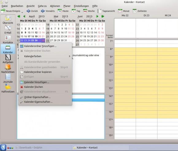 Neuen Kalender anlegen